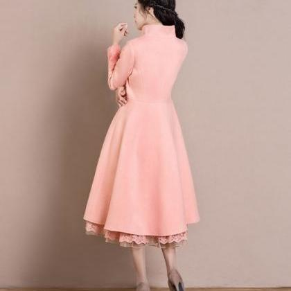 Pink Overcoats for Women Pink Dress..
