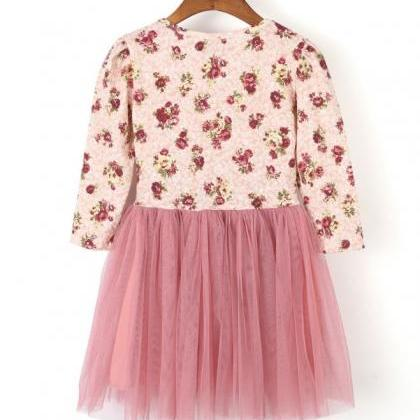 3T Floral long Sleeve Dress Pink Dr..