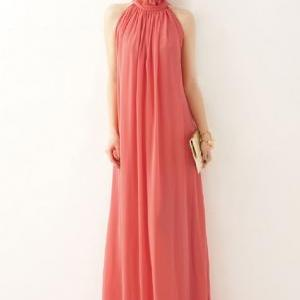 Strawberry Color Dress Red Maxi Dre..