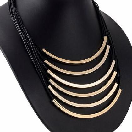 Black Necklace Multilayer Fashion C..
