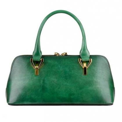 Green Leather Bags for Women Genuin..