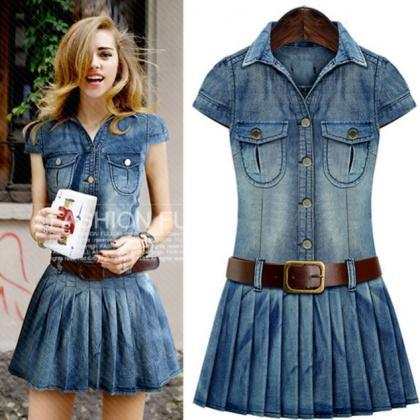 Denim Dress For Teen Girls Denim Dress For Women Cowgirl Outfit ...