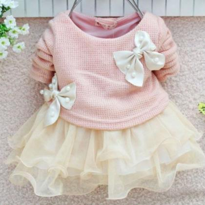 0-3 Months Pink Newborn Girls Dress..
