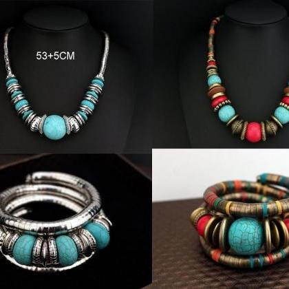 Womens Turquoise Jewelry Sets Color..