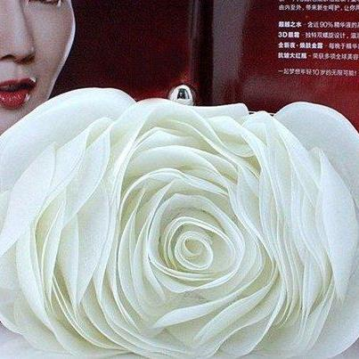 Wedding Purse White Clutch Bridal S..