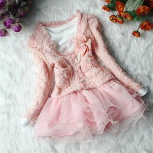 Off White Dress for Girls-Pearl Lon..