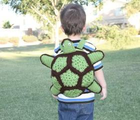 Turtle Backpack for Boys - Toddler Backpack for Boys - Green Backpack