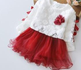 Girls Red Dress with..