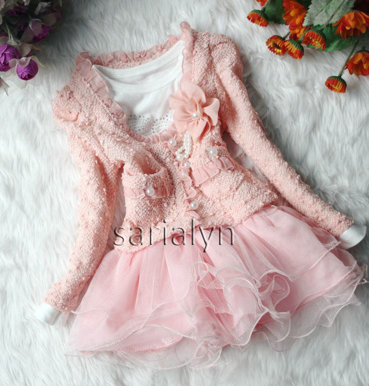 Pink Dress For Toddler Girls Pearl Wedding Dress 2 Piece on Luulla