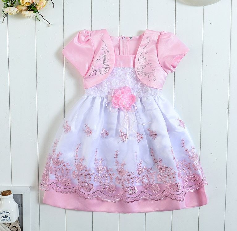 RSS Boutique ON SALE Soft Pink Dress Formal Flower Girls Dresses with FREE Pink Bow Headband