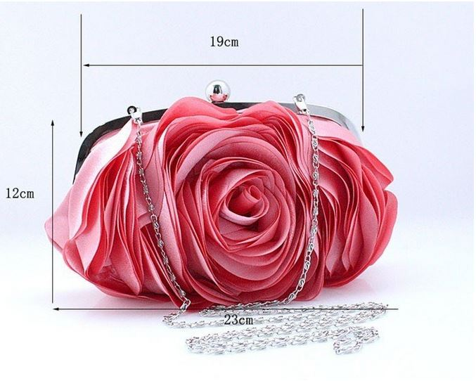 FREE SHIPPING Purple Eye Catching Clutch for Women-Elegant Eye Catching Rose Clutch- Evening Purse for Women