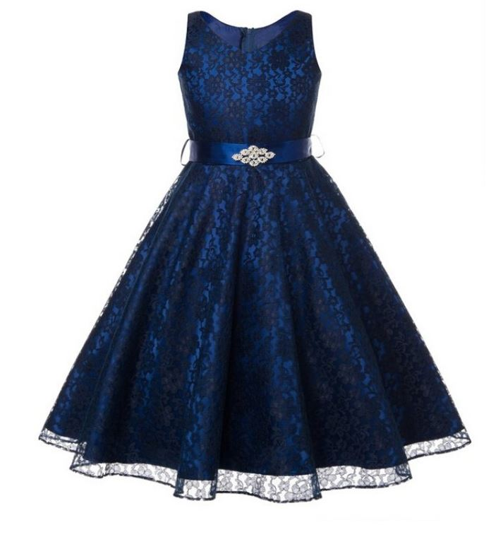 Girls navy blue dress prom navy blue lace dresses wedding for Teenage dresses for a wedding