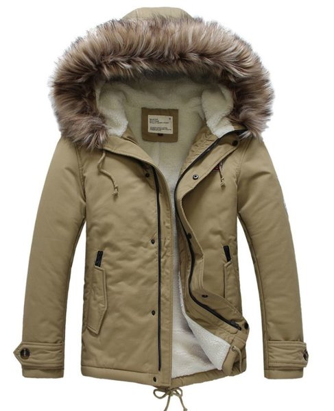 Unisex Beige Padded Down Parka Jacket for Men and Women Duck Plus Size Winter Coats 2XL,3XL,4XL