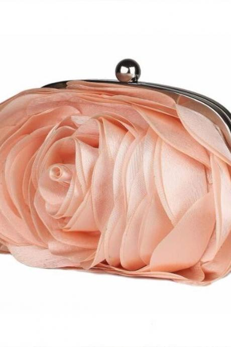 Peach Purse for Party Orange Purse Bridesmaids Peach Color Handbags