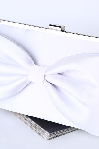 Wedding Purse White Clutch for Brides White Shoulder Bags Bridal White Purse Ready for Shipping White Handbags