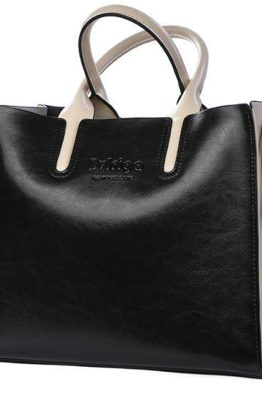 Fashion New Arrival Black Bag Black Handbags for Women Genuine Leather Purse Work Shoulder Bags