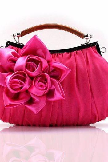 Pink Clutch Evening Purse for Women Red Clutch Shoulder Bag Clutch for Evening Date