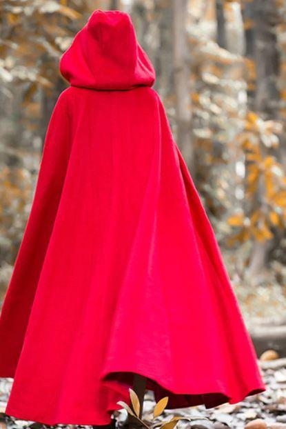 2019 New Cloaks for Women Red Trench Coats Wide Range Cloaks Red Wrap Blankets for Women