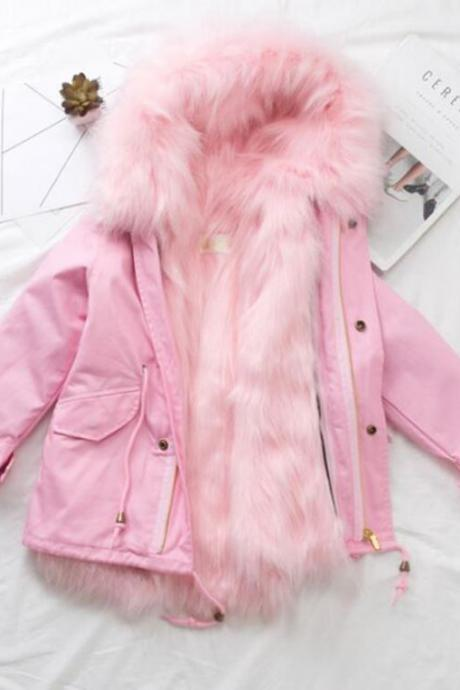 RSS Boutique Fashion for Girls Cancer Patients Raccoon Hooded Parkas for Toddler Girls