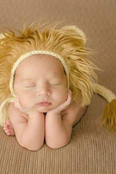 READY FOR SHIPPING Crochet Lion Hats Furry Props for Newborn Baby Boys Props for Boys Crochet handmade