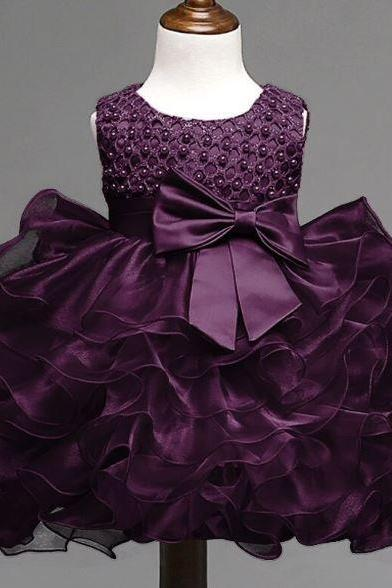 Purple Tutu Dress for 6 Months Newborn Dress 6-9 Months Outfit for Little Girls Super Soft Thick Fluffy Tulle