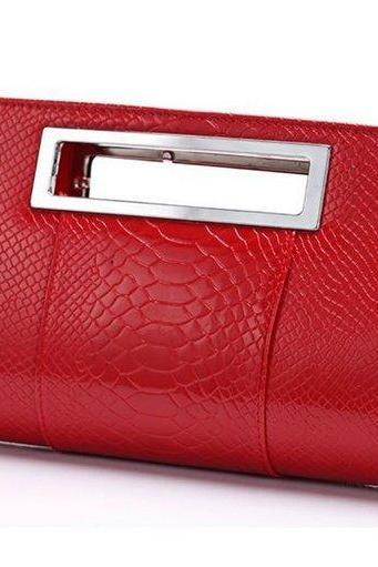 Alligator Handbag Purse Design Red Shoulder Bags