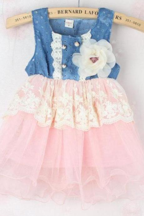 9 Months Pink Tutu Dress Floral Spring Dress 9 Months Spring Dress for Girls Photography
