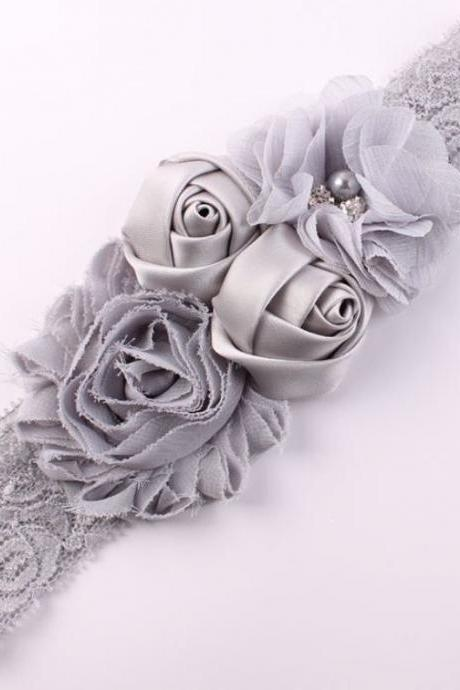Gray Newborn Hair Accessory Gray Headband for Girls