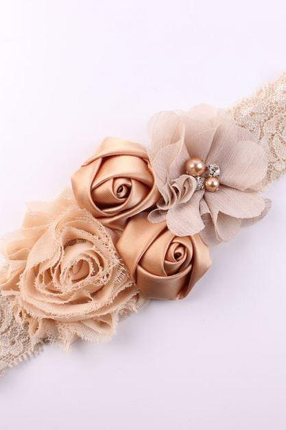 Beige Headband for Newborn Girls Ivory Beige Headbands Toddler