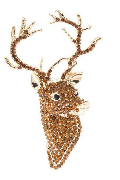 Golden Brooch Deer Brooch for Hunters for Men and Women Gold Deer Brooch Gifts