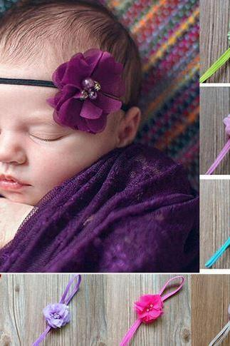 12 Purple Headbands for Newborn Headbands Baby Props 12 Purple Hair Accessory