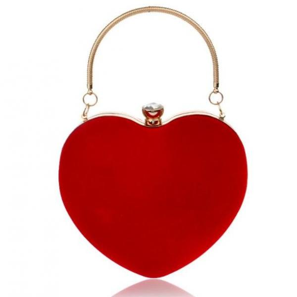 RSS Fashion 2018 Red Clutch for Women Big Heart Tote High Quality Luxury Clutch Red Hearts