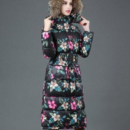 Black Trench Coats Black Parka Long Winter Coats for Women Big Fur Collar Trendy Warm Black Coats