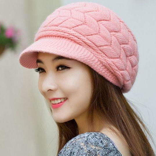 Pink Hats for Teen Girls Pink hats for Toddler Girls Christmas Red Hats for Women Slouchy Hats for Teen Girls with Brim Knitted hats