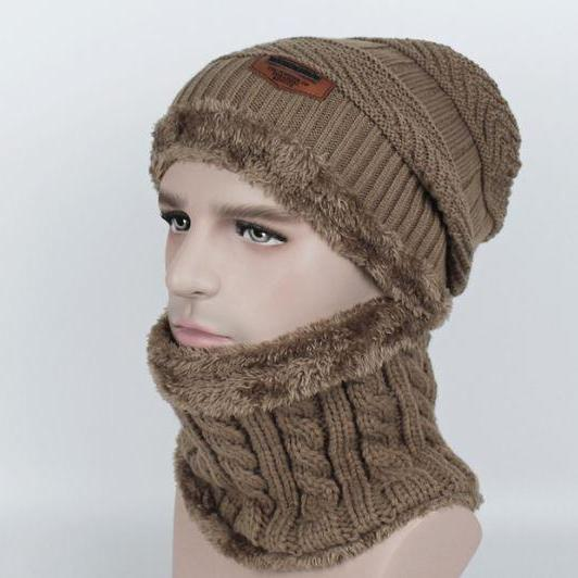 Handsome Beanies for Men Winter Hats Unisex Beanies with Matching Neck Warmer Matching Sets