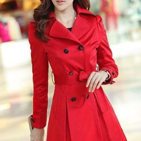 Winter Red Coat qvw4BH