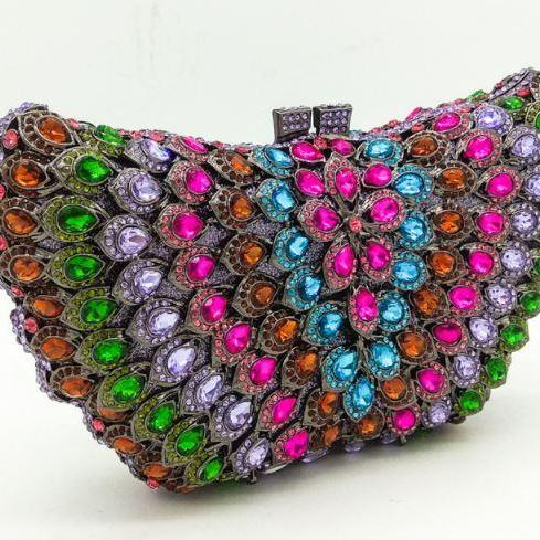 Free Shipping Clutch for Women Luxury Clutch with faux Diamonds Shiny Pretty Clutch High Quality
