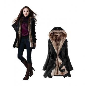 READY TO SHIP BLACK Coats and Jackets BLACK Down Parka Jackets