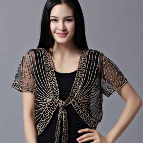 Black Shrug Black Bolero Black Blouse,Black Lace Shrugs Women Elegant Shrugs laces