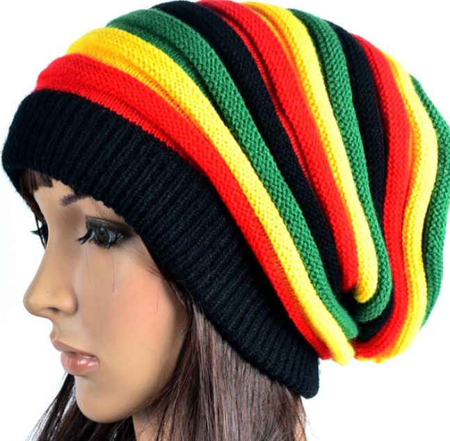 Knitting Patterns For Rasta Hats : Rasta Womens Knitted Hats Handmade Wool Knitted Slouchy Rasta Beanies on Luulla